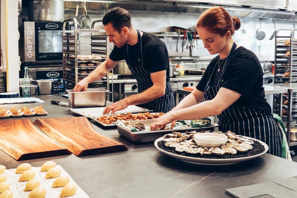 cocina de catering